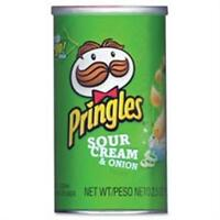 Keebler Co. KEB84560 Pringles Potato Crisps 2.5oz. 12-CT Sour Cream-Onion
