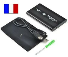 BOITIER DISQUE DUR EXTERNE SATA 2.5'' USB 2.0 SUPPORT DD ENCLOSURE +Cable+Housse