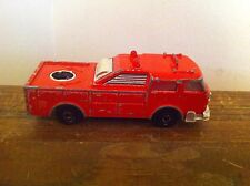 Vintage Red Emergency Vehicle Fire Engine Sonic Flashers distressed toy car old