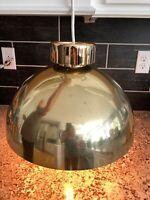 "Gold Tone MCM Retro Ceiling Hanging Light Lamp Mod Atomic Sphere Table Light 16"""