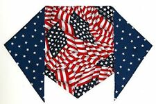 """Patriotic Bandana for Dogs S Ties on 9"""" - 10"""" neck"""