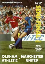 OLDHAM ATHLETIC V MANCHESTER UTD F.A. CUP SEMI FINAL REPLAY 1990 PROGRAMME