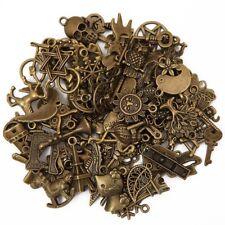 Antique Metal Charms Pendants Jewelry Bracelet Necklace DIY Craft Bulk Lot 100pc