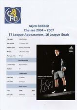 ARJEN ROBBEN CHELSEA 2004-2007 ORIGINAL HAND SIGNED PROMO CARD FOR ADDIDAS