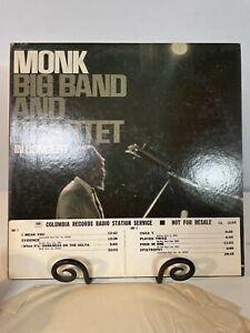 MONK BIG BAND AND QUARTET EX+ SOUND  MONO PROMO LP