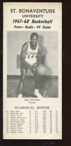 1967/1968 NCAA Basketball St. Bonaventure Media Guide EX