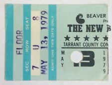 New Barbarians Ticket Stub May 4, 1979 Tccc Fort Worth Tx Keith Richards etc