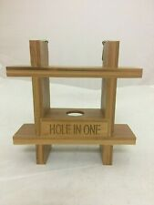 golf ball rack display case Hole in one best round Bamboo Made