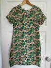 Stella Morgan Dress Size 10 Green Floral Retro Style