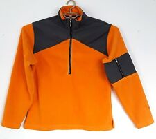 Woolrich Fleece 1/2 zip Pullover Orange Grey Colorblock Mens size M