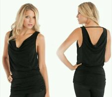 NEW GUESS BLACK Crissa Sleeveless Top SIZE M
