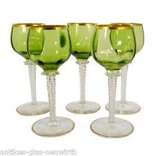 1. von 5. Madeiraglas mit pistachfarbender Kuppa, Theresienthal, Form 1154