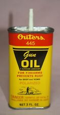 VINTAGE  TIN/CAN - OUTERS 445 GUN OIL POLARIZED PREVENT RUST HANDY OILER 3 OZ.