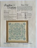 Papillon Creations Years End Sampler Cross Stitch Pattern 2 Colors in Design New
