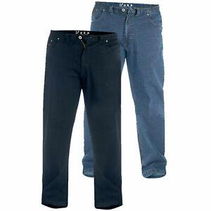 Duke Kingsize Mens Stretch Jeans Comfort Fit Elasticated Waist (Bailey,Balfour)