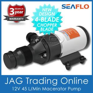 12V SEAFLO MACERATOR WATER PUMP - Waste/Toilet /Sewerage/Marine/Boat/Caravan/RV