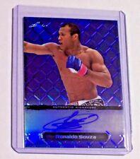 2011 Leaf Metal MMA Blue Autograph Ronaldo Jacare Souza /25 UFC Strikeforce