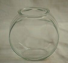 Anchor Hocking Clear Glass Gold Fish Bowl Drum Aquarium Terrarium 1 Gallon Tank