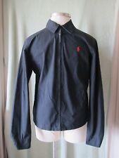 "Men's Polo Ralph Lauren Black Full Zip Cotton Jacket NWT $145 M 35"" SL"
