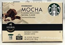 Starbucks Mocha Flavored Coffee K Cup Cups Keurig 10 ct