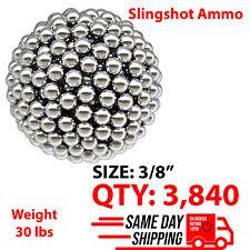 """3840 qty 3/8"""" Inch Steel Shot Slingshot Ammo Balls"""