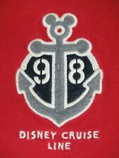 DISNEY CRUISE LINE ANCHOR PATCH 98 QUALITY  -RED LARGE T-SHIRT-A1902