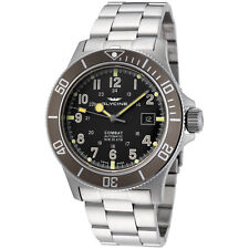 Glycine Men's 3908.191AT.GD1.MB Combat Sub Automatic 42mm Black Dial - GL0076