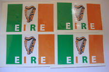 4 EIRE FLAG STICKERS  IRELAND IRISH MOTORBIKE HELMET IOM TT  CAR STICKERS