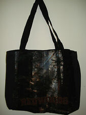 New Mill Street Design Tapestry Canvas Tote Bag Red Woods