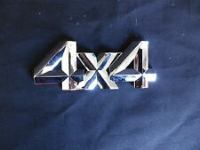 4 X 4 BADGE  85mm x 35mm CHROME PLASTIC STICK ON