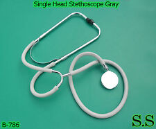 New Nurses Stethoscope Single Head Stethoscope Gray, B-786