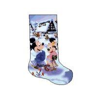 Mickey and Minnie Christmas Stocking. Cross Stitch Pattern. Mantelpiece decor.