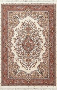 Floral Traditional Oriental Area Rug Wool/ Acrylic Heat-set Foyer Carpet 5x7 ft