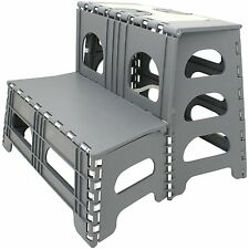RV Double Stepstool step stool stair Camper Easy Fold-up Unit Range Storage Step