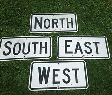 Authentic Reflective NORTH EAST SOUTH WEST Aluminum Traffic Road Sign 24x12 NICE