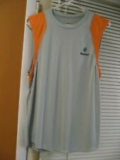 Men's BodyPost Tank Top M Gray Orange Workout Running Nwot T Shirt