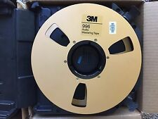 "3M 996 -- 2""x10.5"" Audio Mastering Tape Gold Take Up Reels w/Plastic Case (8)"