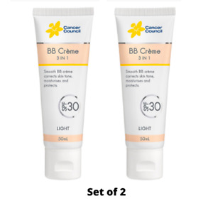 Cancer Council BB Creme 3 in 1 SPF30 + Broad Spectrum & Sun Protection Set of 2