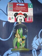 JIMINY CRICKET GLASS DOME Disney Store Sketchbook Ornament. Brand New for 2018.