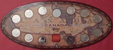 Proof Like 1999 Canada 12 Millennium 25 Cents Plus New Board