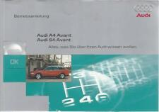 AUDI   A4  S4  Avant  B5 Betriebsanleitung 1998 Bedienungsanleitung Handbuch BA
