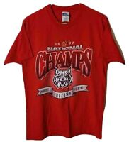 Arizona Wildcats 1997 National Champs Pro Player Mens M Red T-Shirt Vintage