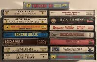 15x TRUCK DRIVING / COUNTRY Cassette Tape Lot: RARE Boxcar Willie Gene Tracy