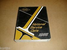 1965 National Service Data Chevrolet Pontiac Plymouth Ford Chrysler shop manual
