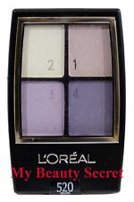 L'OREAL WEAR INFINITE EYESHADOW QUAD #520 VIOLETS -NEW-FULLSIZE
