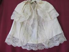 19C Antique Ladies Hand Embroidered Cotton & Lace Cloak Mantle