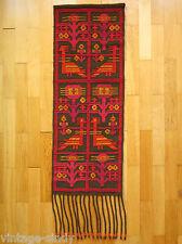 Vintage Polish HANDWOVEN WOOL SUMAK KILIM 108x40 cm | Tapestry Wall Hanging