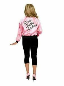Pink Satin Ladies Jacket for Adults