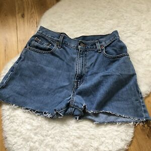 Levis Blue Denim Mom Shorts With Belt Loops Size 8
