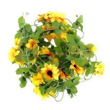 1X(Artificial sunflower garland flower vine for Home Wedding Garden Decorat Q7S2